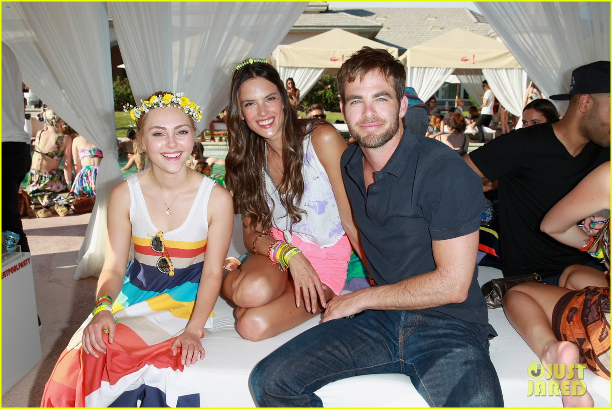chris pine alessandra ambrosio lacoste live pool party 032849245