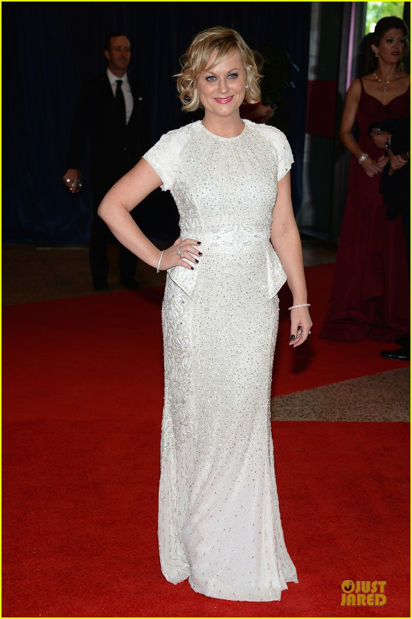 amy poehler white house correspondents dinner 2013 red carpet 012859476