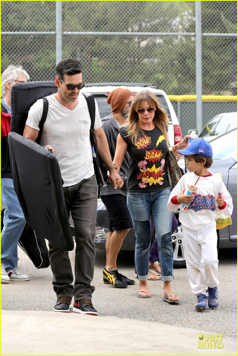leann rimes eddie cibrian jake baseball game before birthday party 142849582