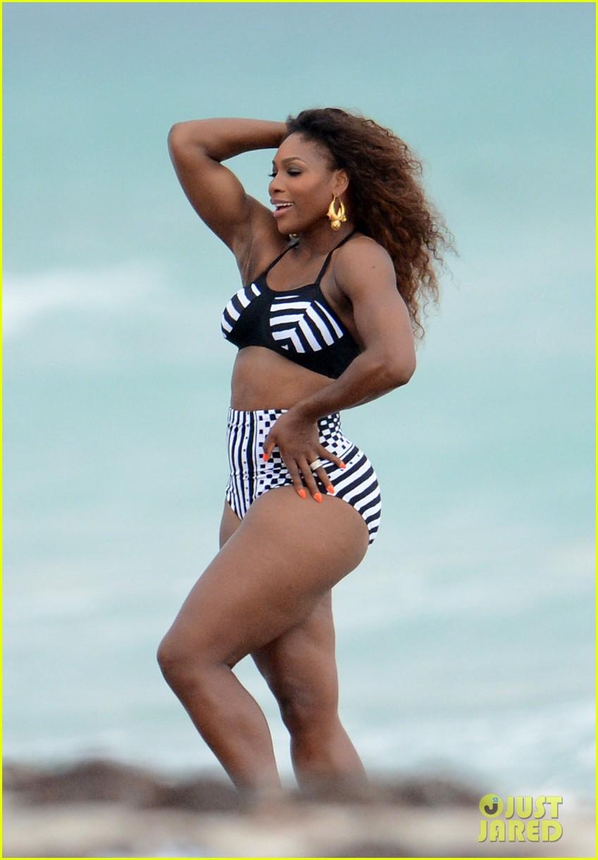 serena williams bikini beach photo shoot 27