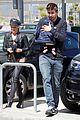 shakira gerard pique escorted airport trip 01