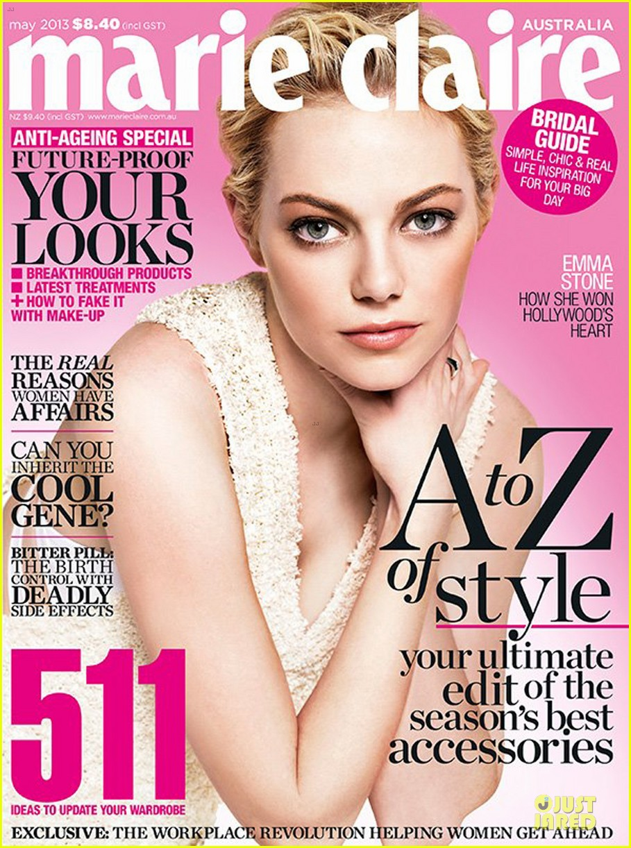 emma stone covers marie claire australia may 2013 05