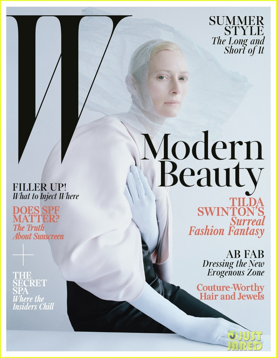 tilda swinton caterpillar covered for w magazine 01