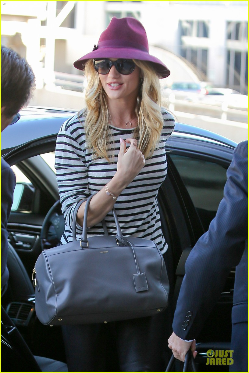 rosie huntington whiteley lax arrival after new orleans trip 16