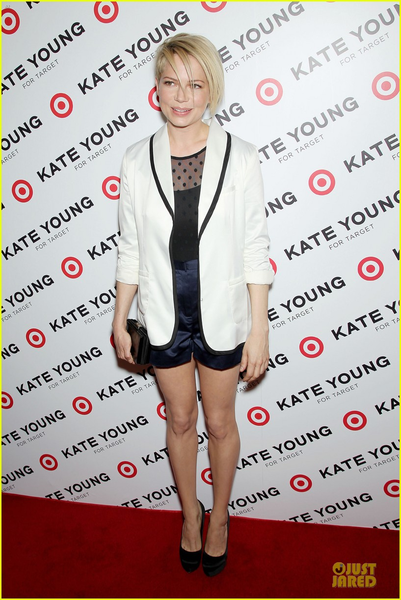 michelle williams haircut debut at kate young for target launch 082846440