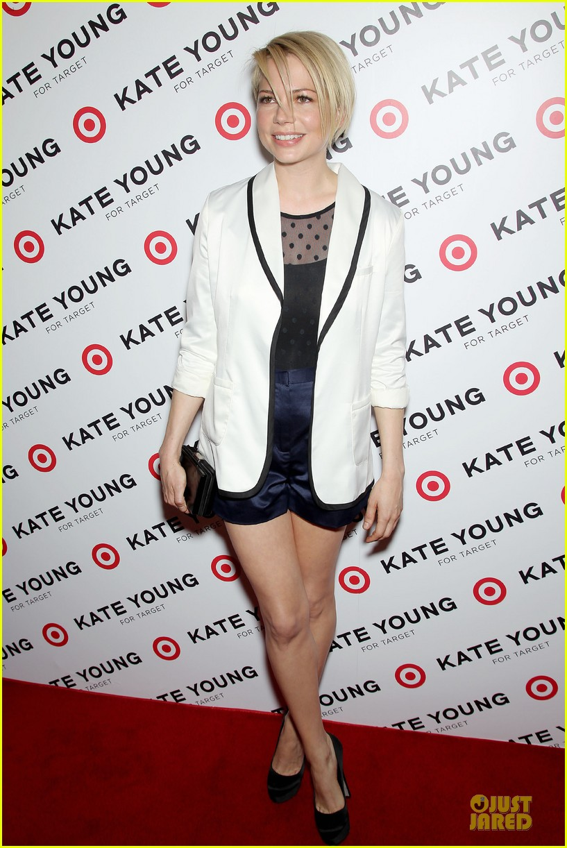 michelle williams haircut debut at kate young for target launch 102846442