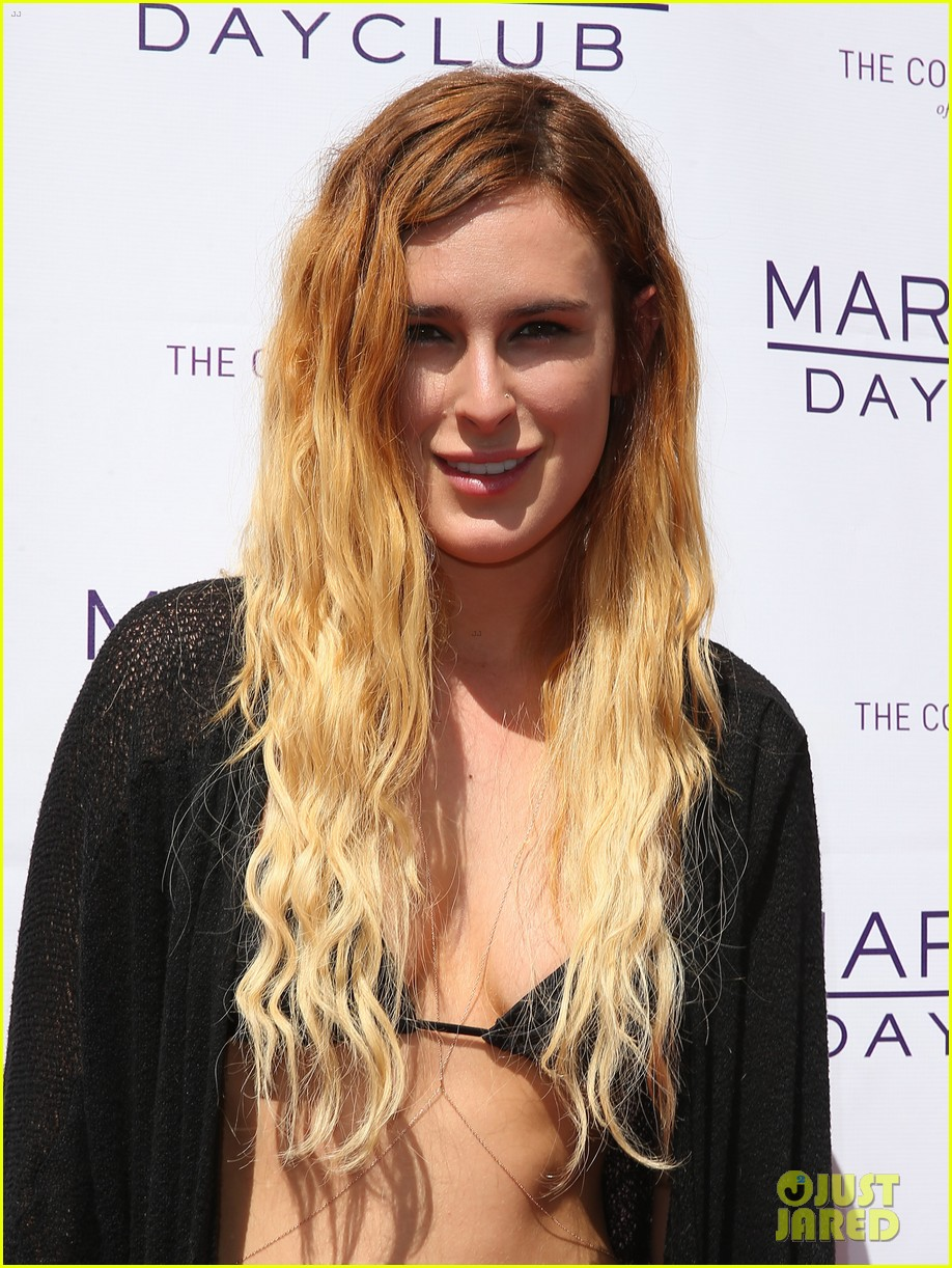 rumer willis bikini babe at marquee with jayson blair 182844603