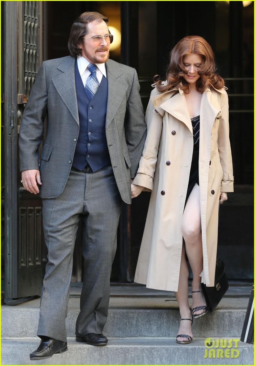 christian bale amy adams dance hold hands on set 022873340
