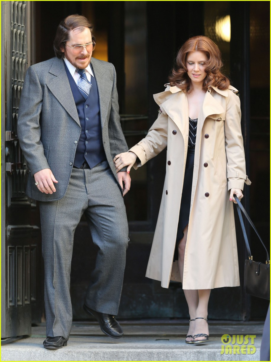 christian bale amy adams dance hold hands on set 11