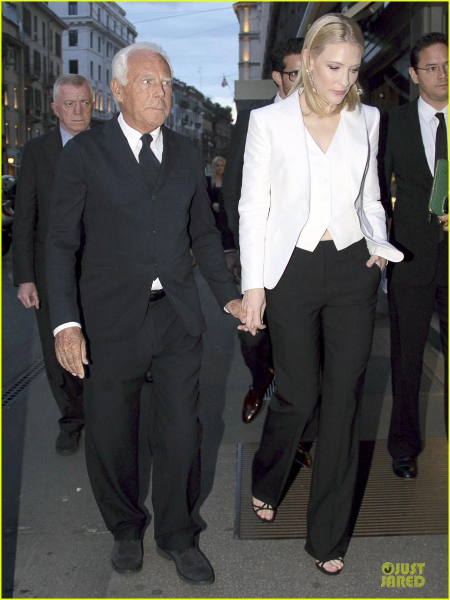 cate blanchett giorgio armani hold hands in milan 012872704
