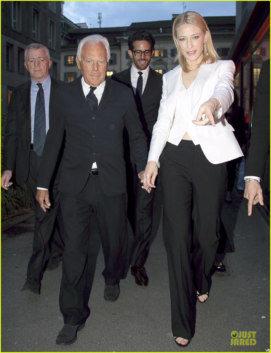 cate blanchett giorgio armani hold hands in milan 10