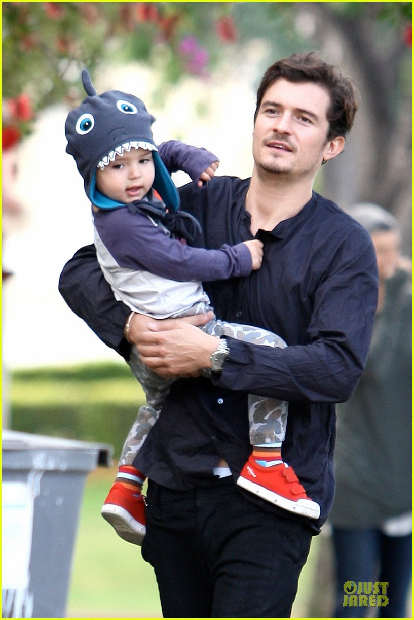 orlando bloom flynn la stroll after miranda kerr met ball 11