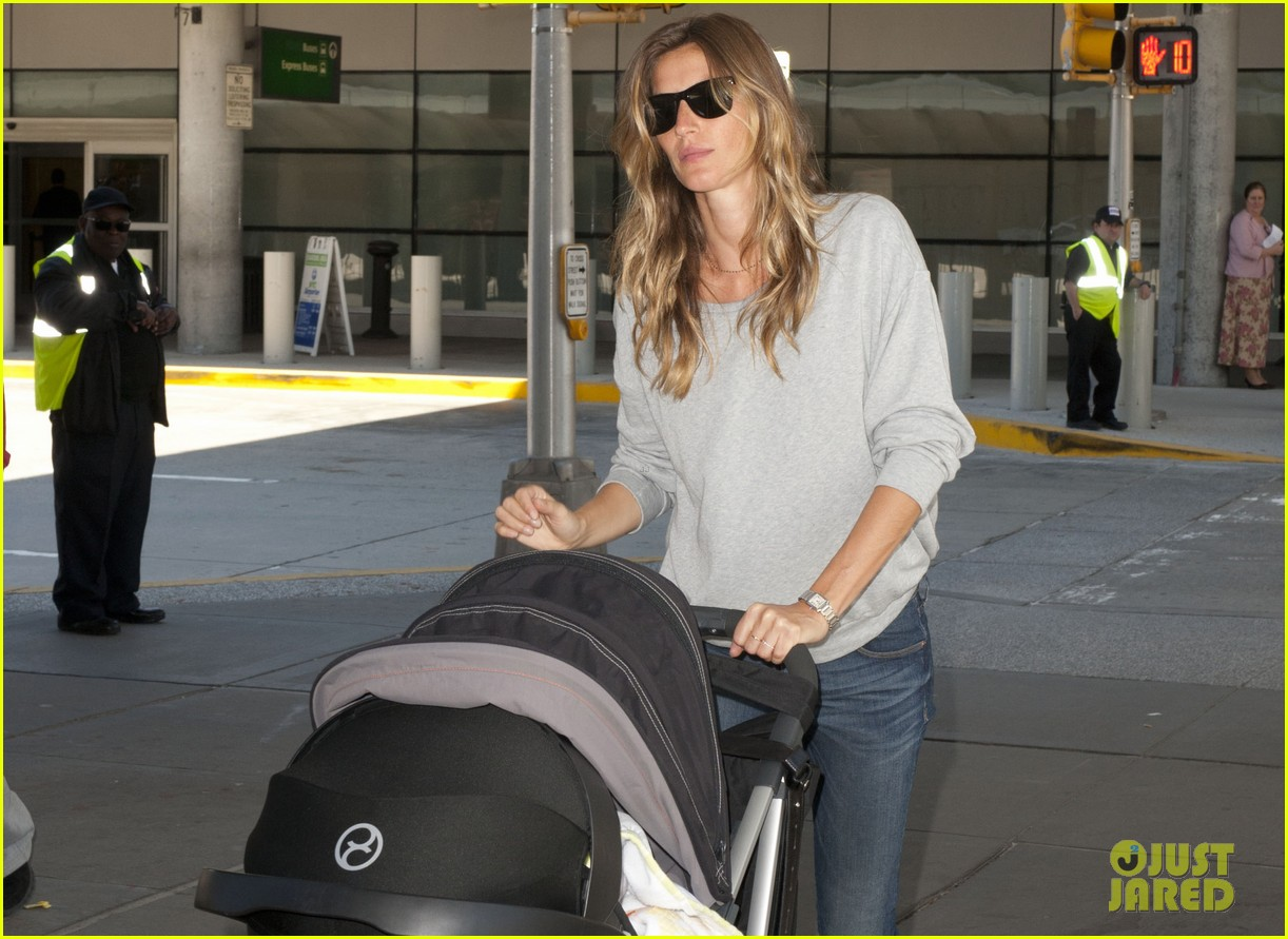 gisele bundchen vivian fly to nyc after hm campaign news 01