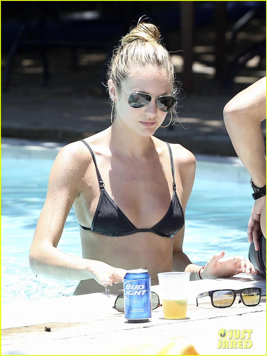 candice swanepoel poolside bikini babe  with hermann nicoli 04
