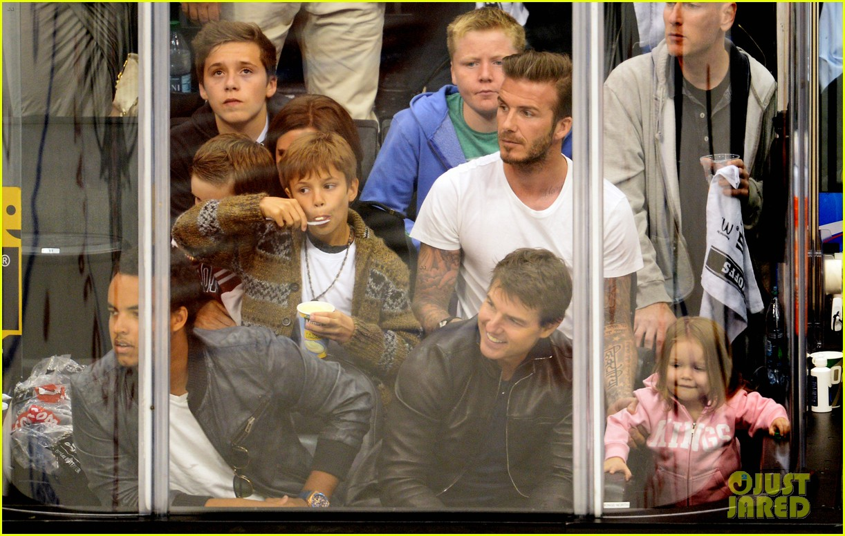 tom cruise david beckham kings game with families 062880232