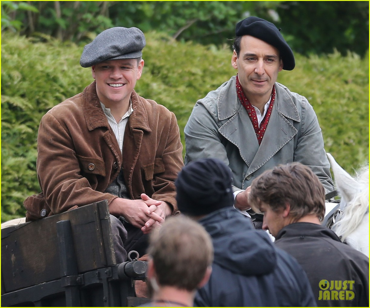 matt damon george clooney get to work on monuments men 062880920