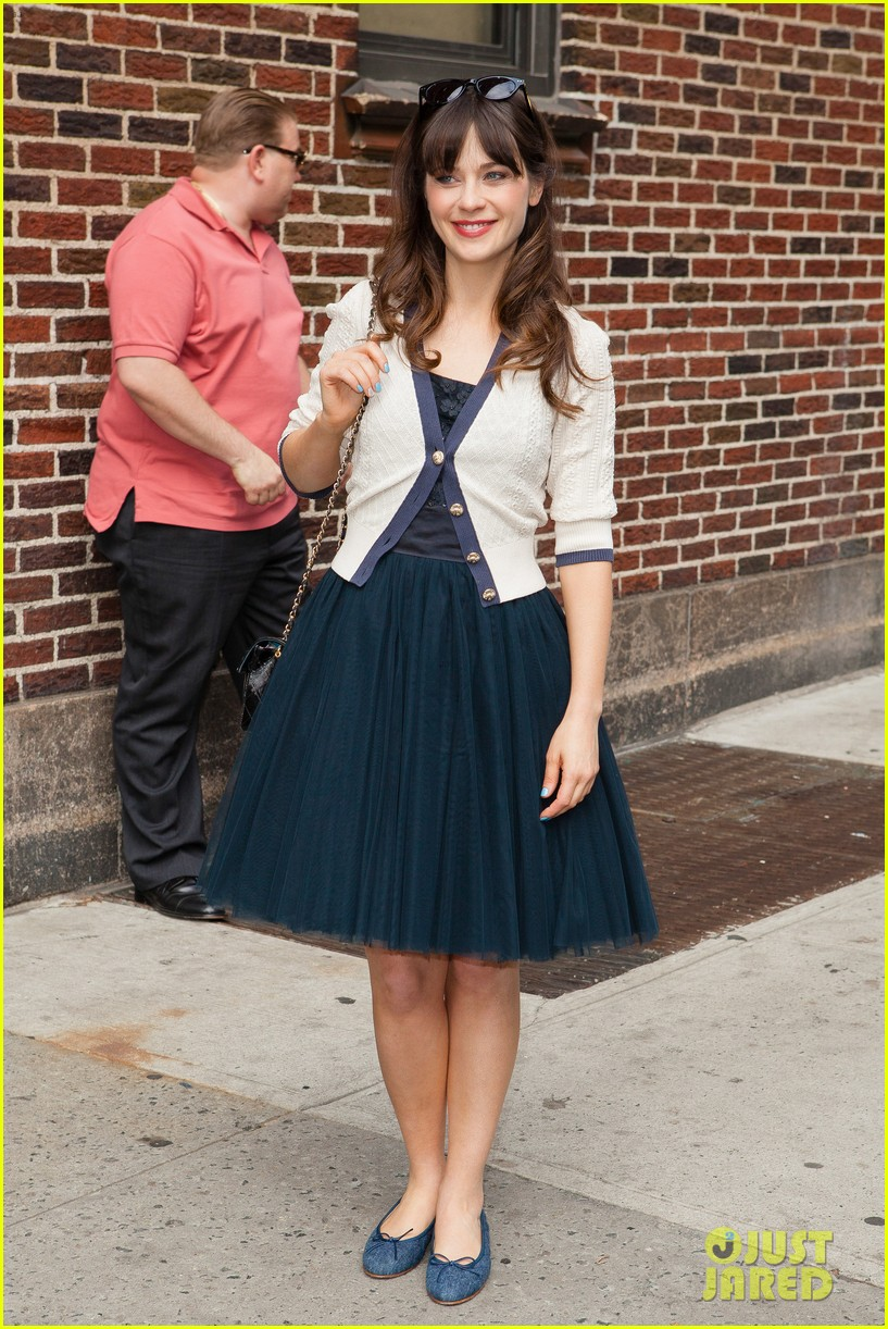 zooey deschanel alyson hannigan letterman ladies 152867052