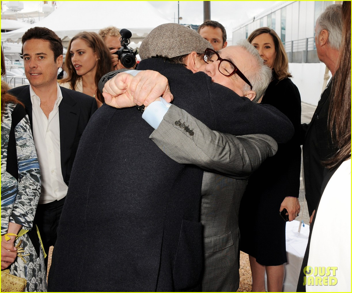 leonardo dicaprio martin scorsese big hug at cannes event 03