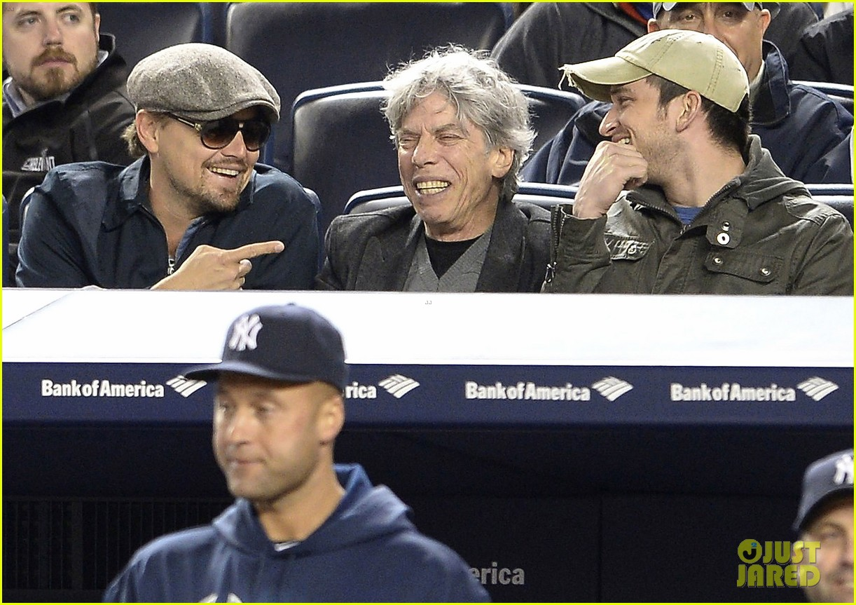 leonardo dicaprio yankees game dugout dude 03