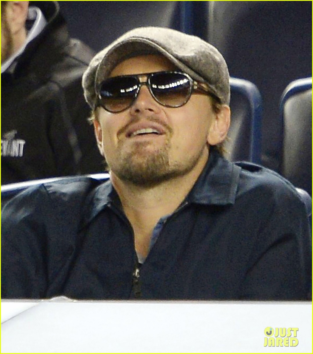 leonardo dicaprio yankees game dugout dude 05