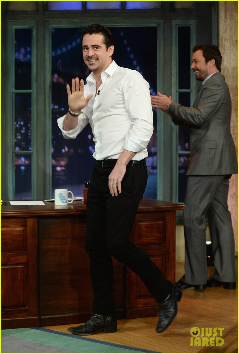 colin farrell late night with jimmy fallon debut 082875325