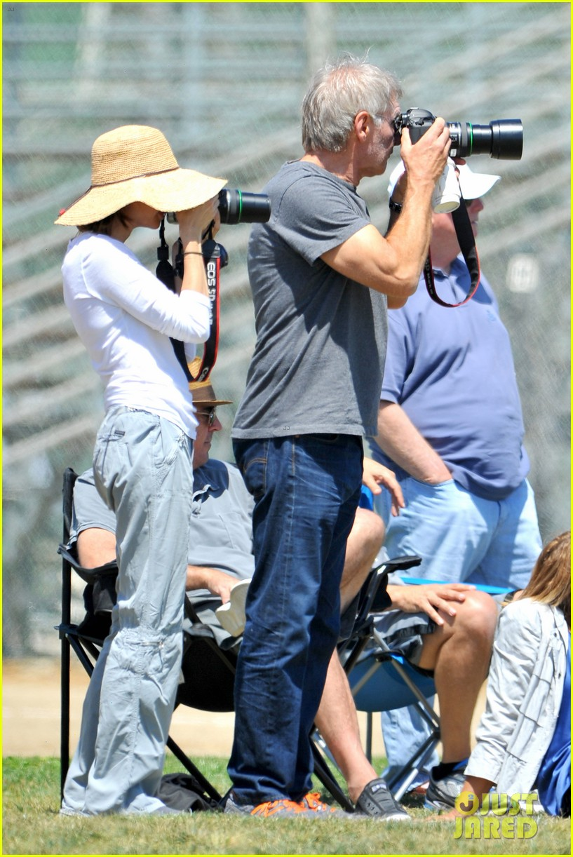 harrison ford calista flockhart liam soccer game 032868782
