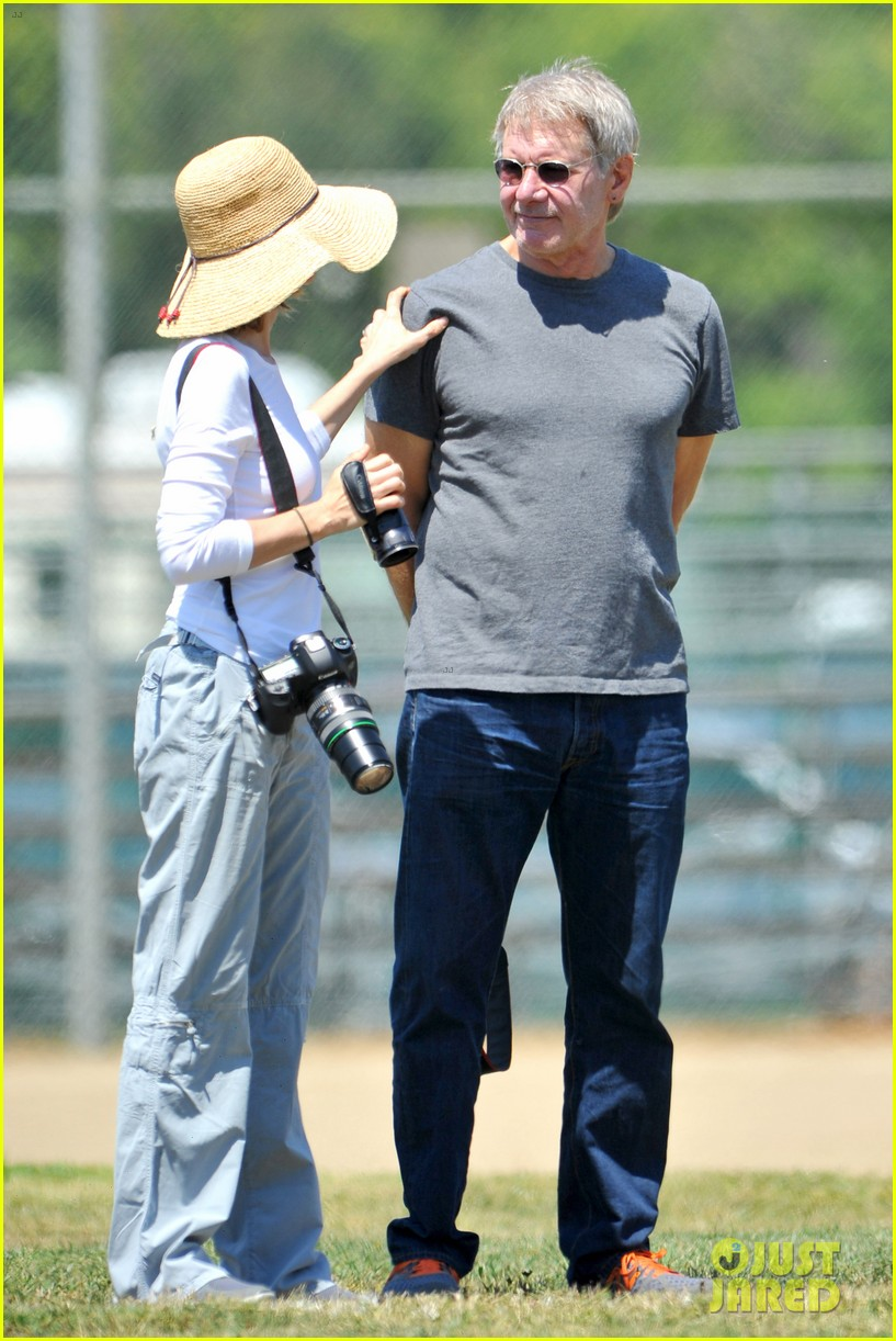 harrison ford calista flockhart liam soccer game 192868798