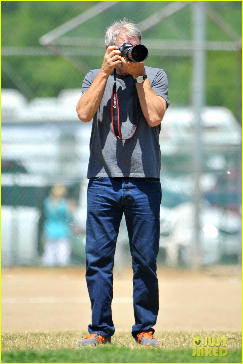 harrison ford calista flockhart liam soccer game 232868802