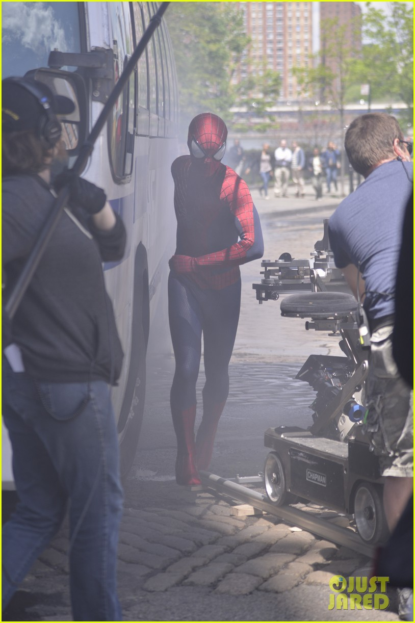 andrew garfield paul giamatti spider man 2 stunt scenes 102869298