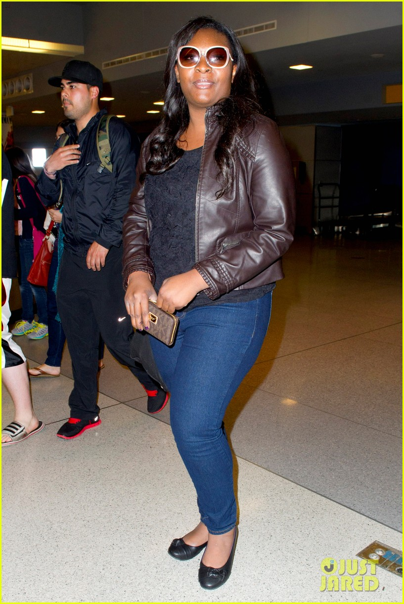 candice glover kree harrison jfk arrival for idol promo 102873214
