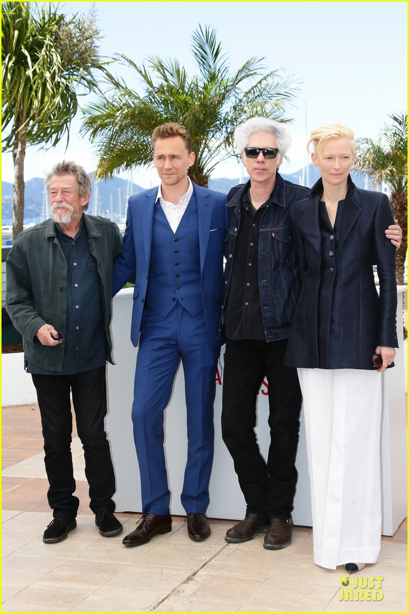 tom hiddleston tilda swinton only lovers left alive cannes photo call 03