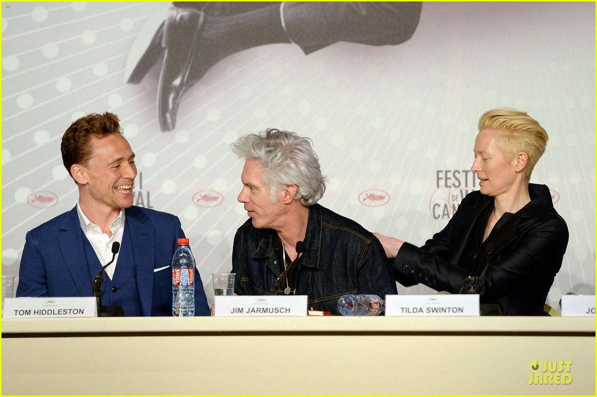 tom hiddleston tilda swinton only lovers left alive cannes photo call 11