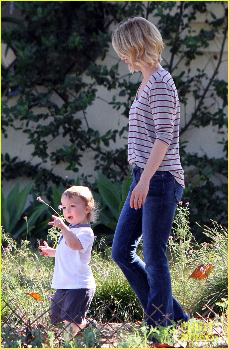 january jones xander walks in front of mommy 06