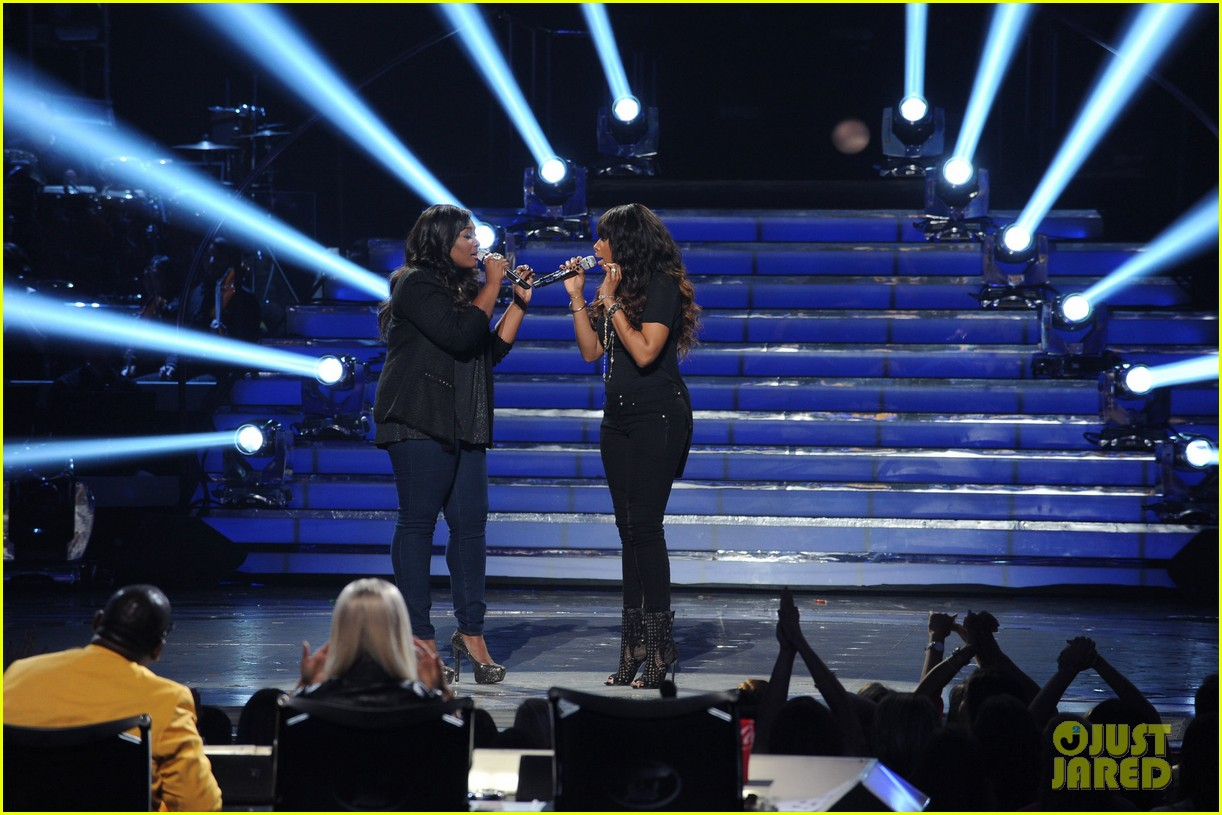 candice glover jennifer hudson duet on idol finale video 02