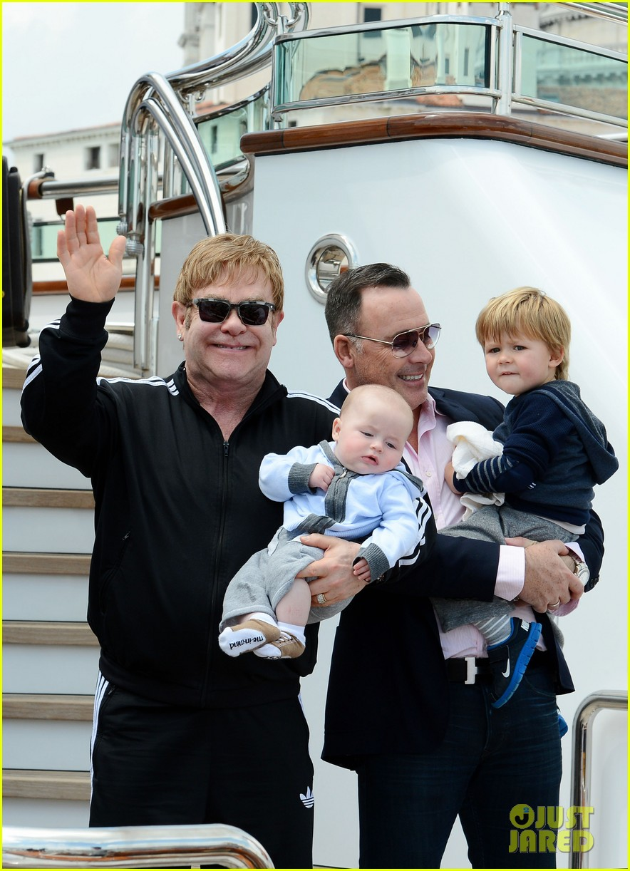 elton john david furniss family trip with zachary elijah 132879974