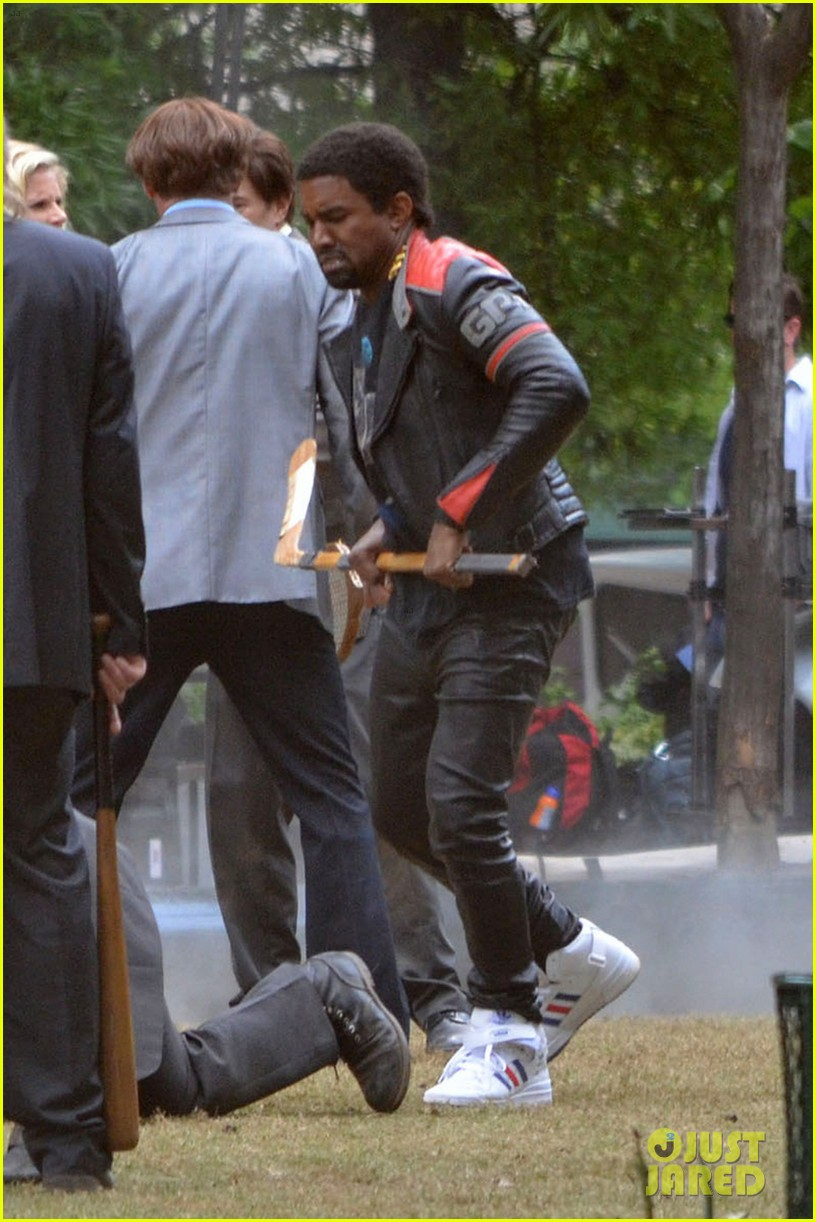 kanye west films anchorman 2 cameo in atlanta 052868939