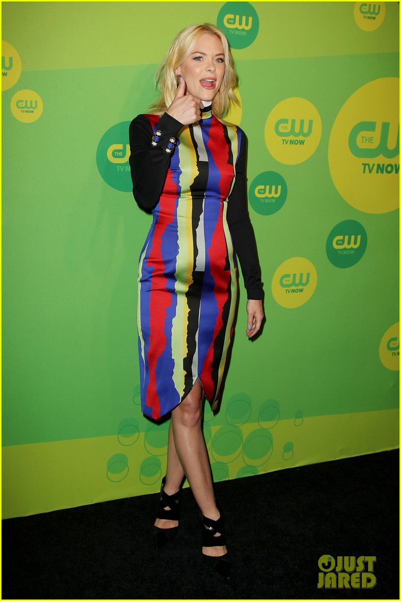 jaime king baby bump at hart of dixie cw upfront 08