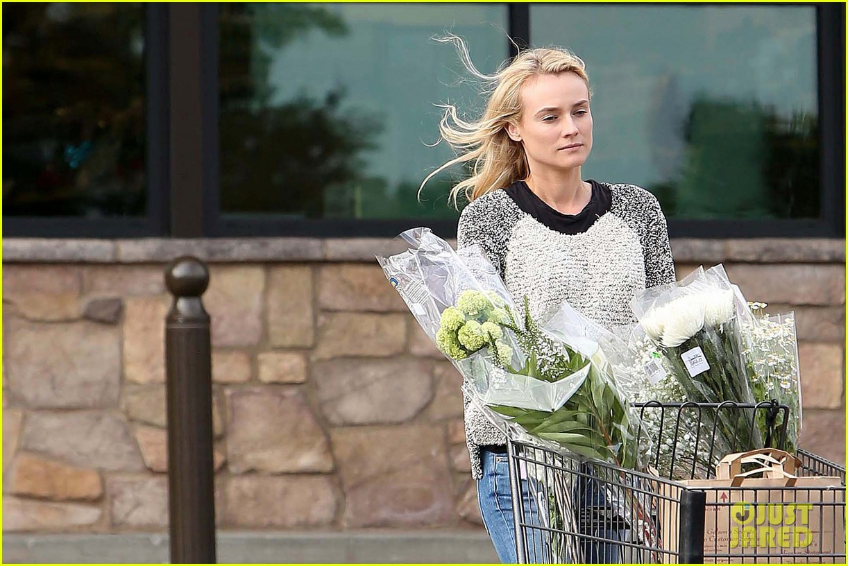 diane kruger flower fabulous after met ball trip 18