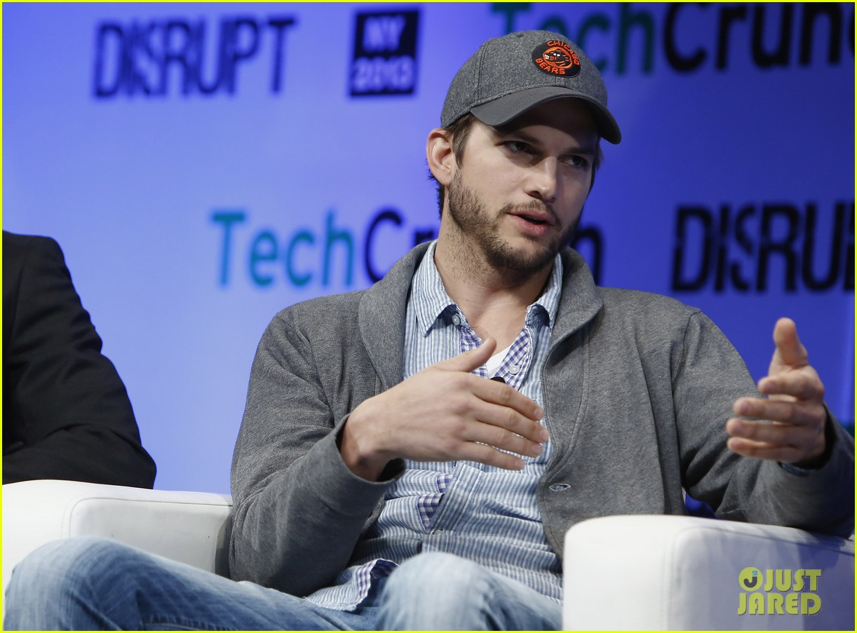 ashton kutcher techcrunch disrupt ny 052861902
