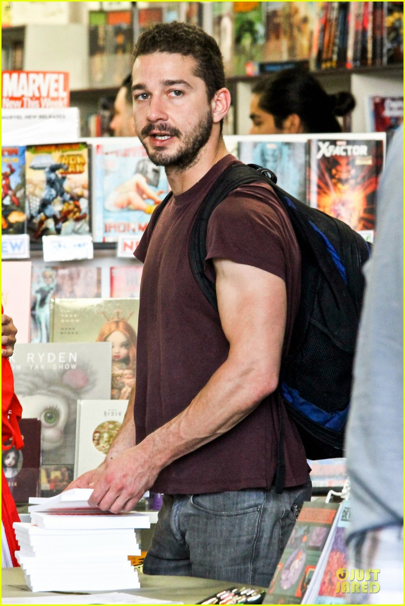 shia labeouf stale n mate book signing 10