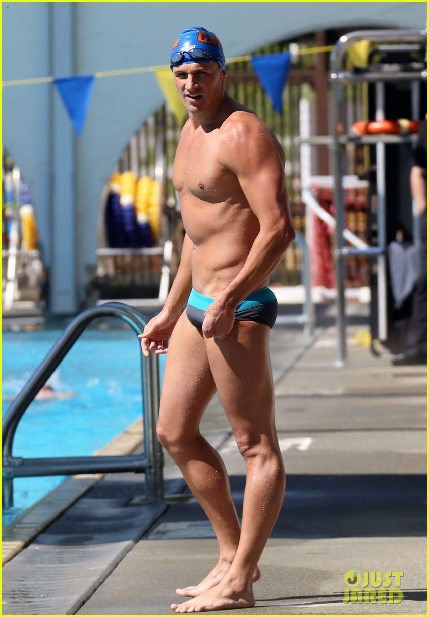 ryan lochte shirtless speedo stud for mel zajac jr meet 12