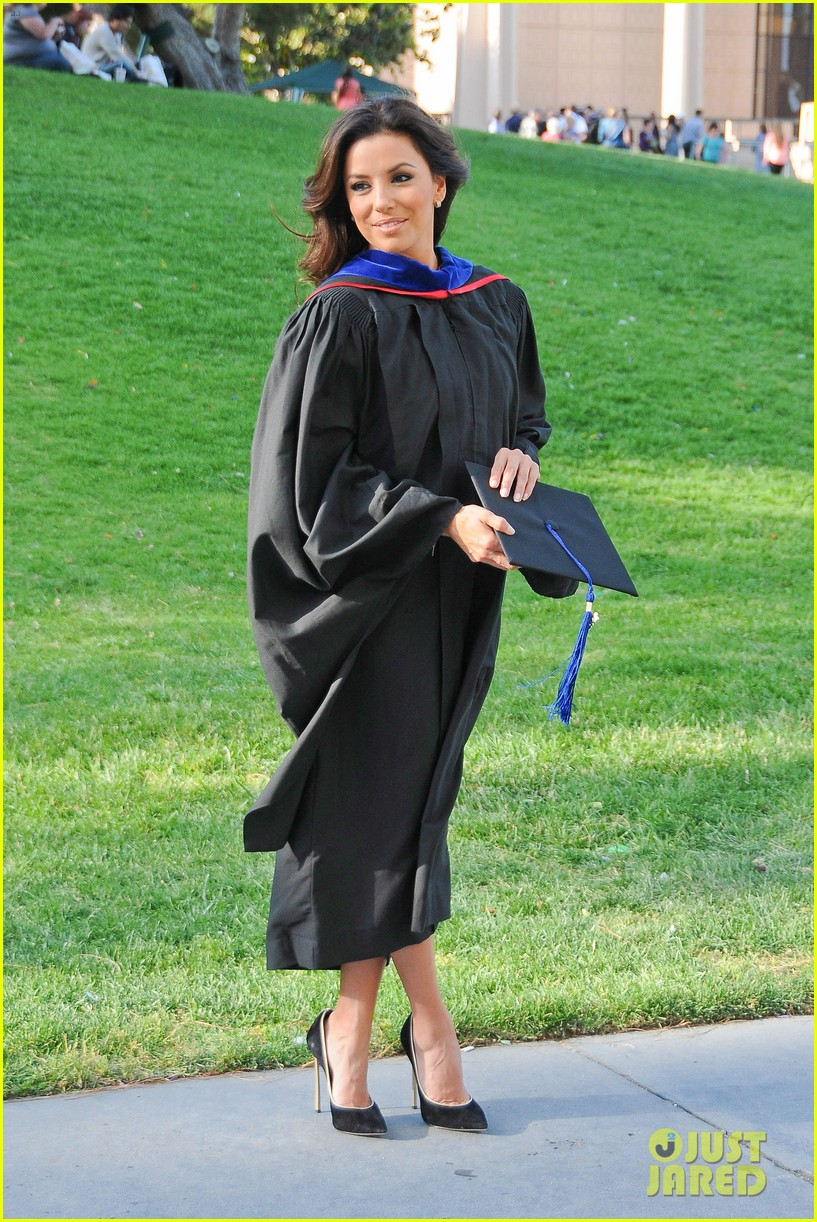 eva longoria graduates with a masters degree from csu 16