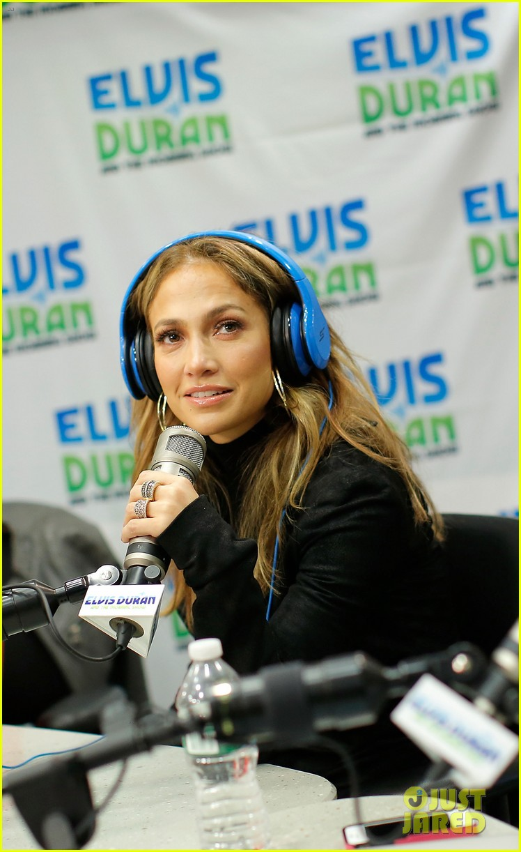 jennifer lopez visits z100 studios after releasing new song 13