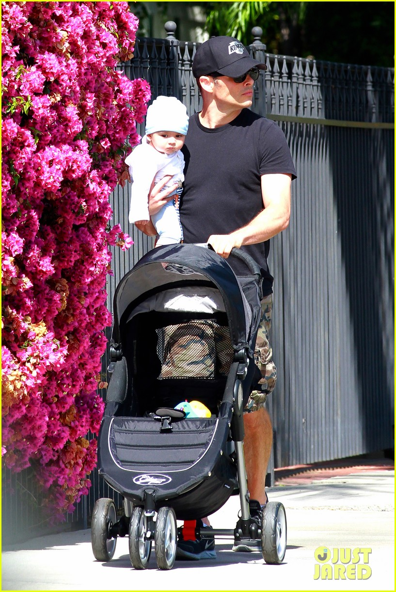 james marsden walks with son william luca 03