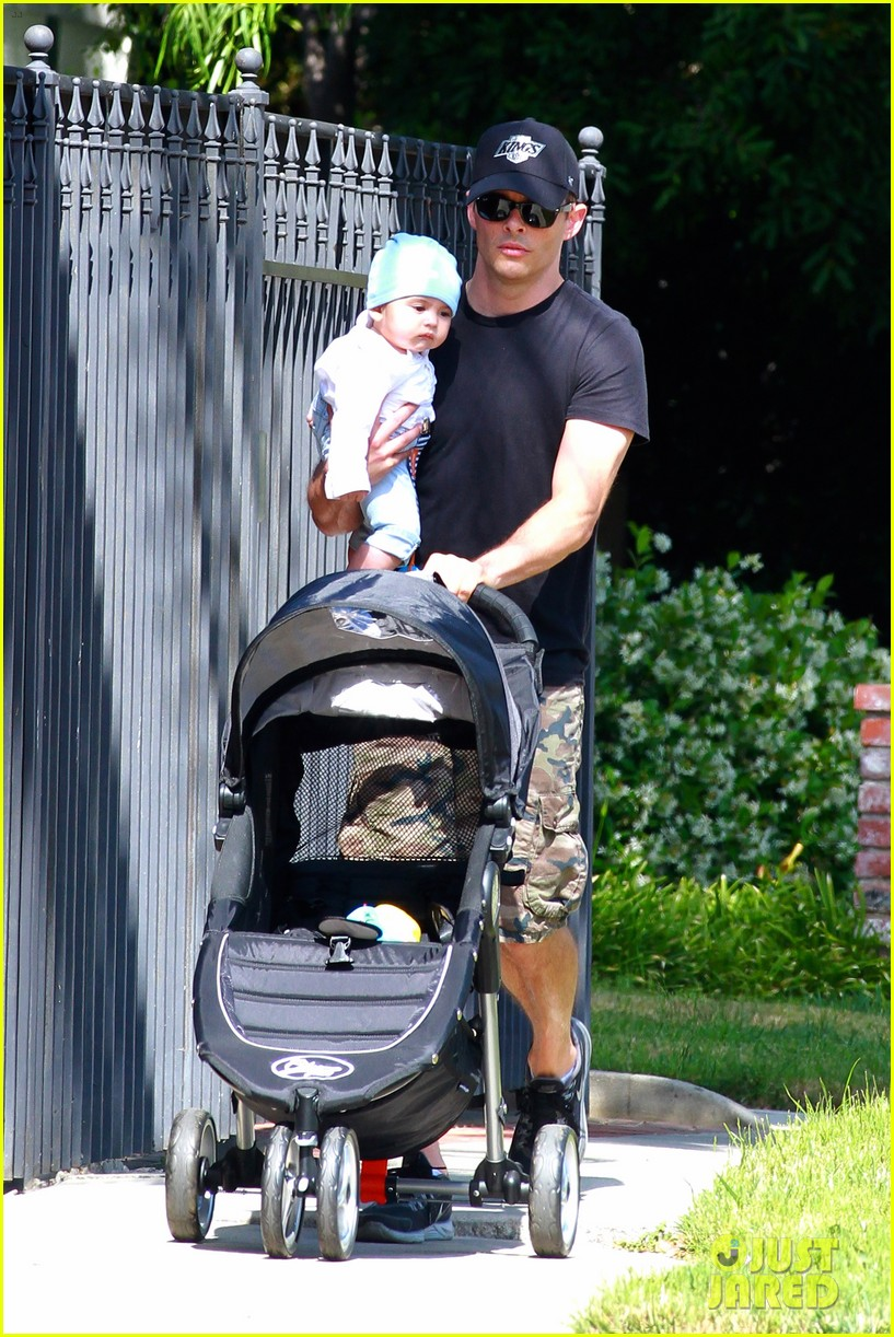james marsden walks with son william luca 07