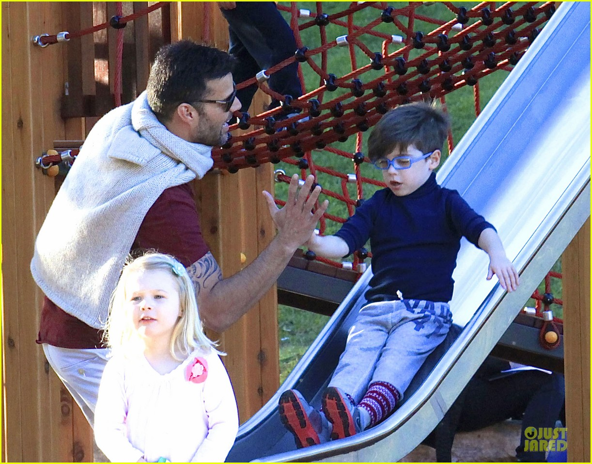 ricky martin bronte park with the twins 102875127