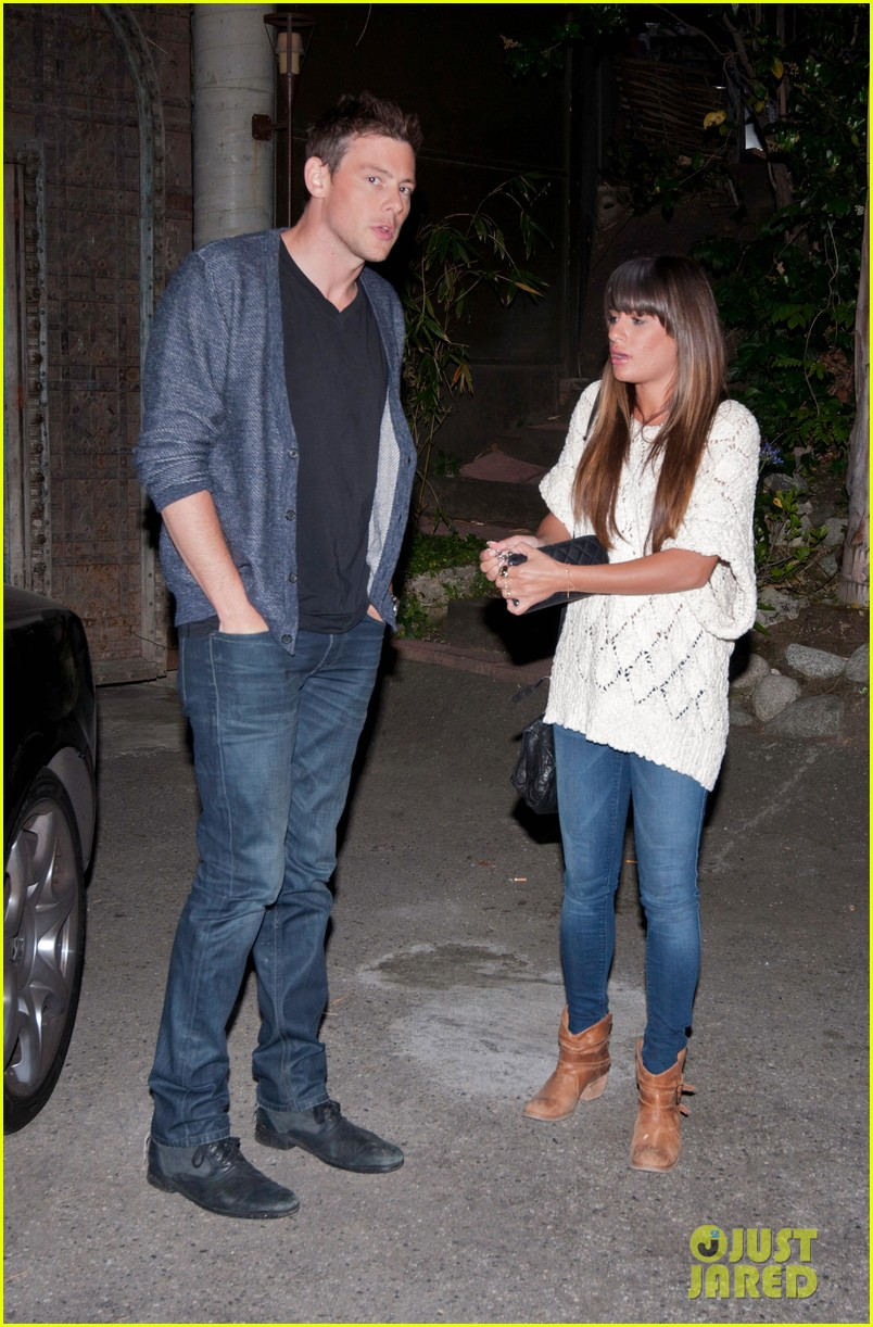 lea michele visits dentist after date night with cory monteith 05