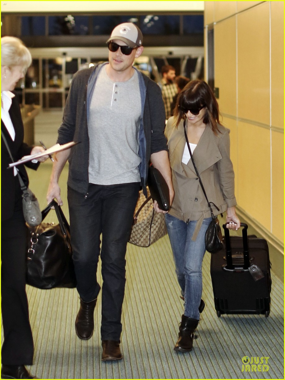 lea michele cory monteith vancouver departing couple 052863475