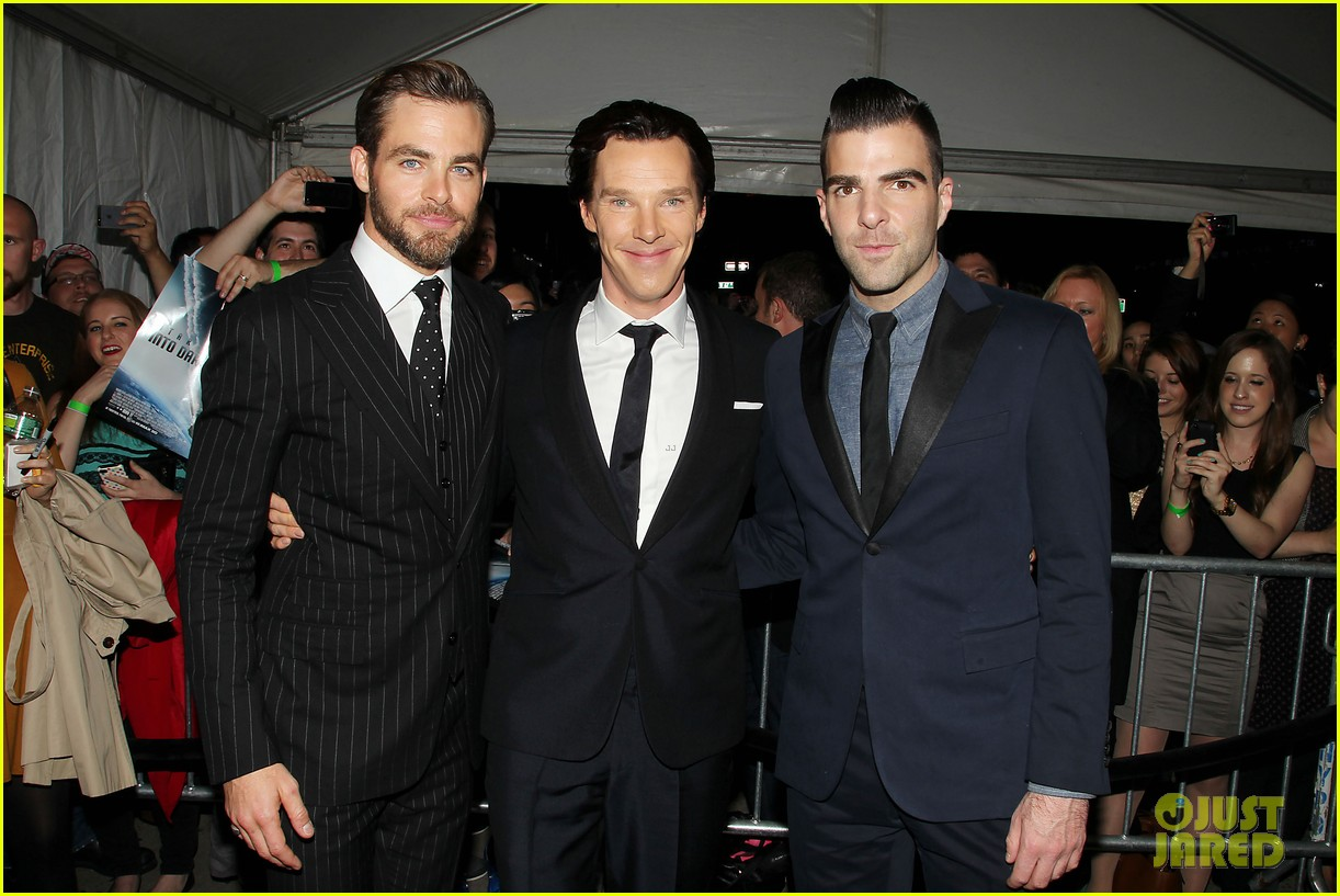 chris pine benedict cumberbatch star trek nyc screening 032867498