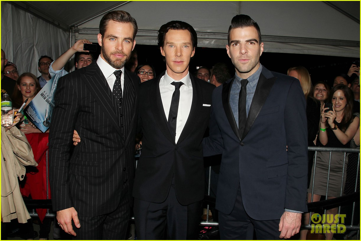 chris pine benedict cumberbatch star trek nyc screening 282867523